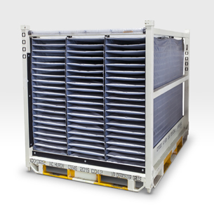 Racks with ORBIShield® Dunnage Metal Rack Solutions products