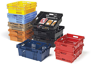 Containers, Totes,                        Trays and Cases Stack-N-Nest CR2420-7 3-H NPL 686 image